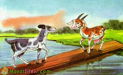 Two Goats over a Bridge